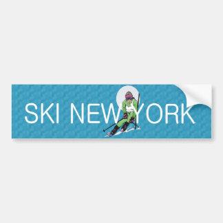 Esquí SUPERIOR Nueva York Etiqueta De Parachoque