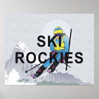 Esquí SUPERIOR Rockies Impresiones