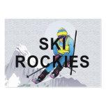 Esquí SUPERIOR Rockies Plantillas De Tarjeta De Negocio