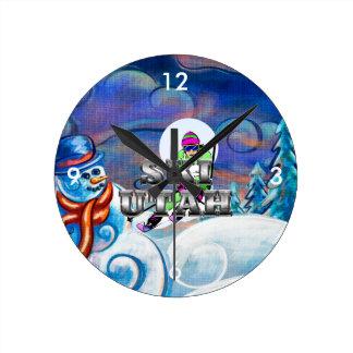 Esquí SUPERIOR Utah Relojes De Pared