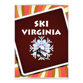 """Esquí SUPERIOR Virginia Invitación 5"""" X 7"""""""