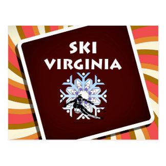 Esquí SUPERIOR Virginia Tarjetas Postales