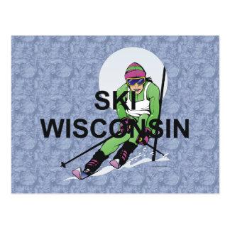 Esquí SUPERIOR Wisconsin Tarjeta Postal