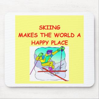 esquí alfombrillas de ratón