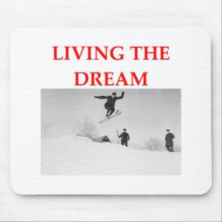 esquí tapete de ratón