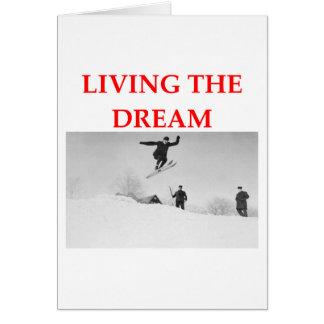 esquí tarjeta