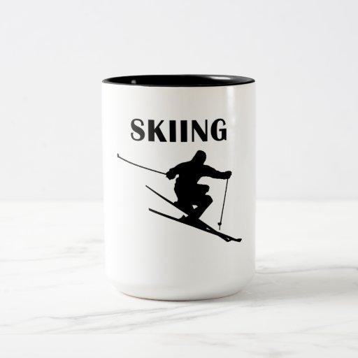 Esquí Taza Dos Tonos