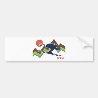 Esquí Utah Pegatina De Parachoque