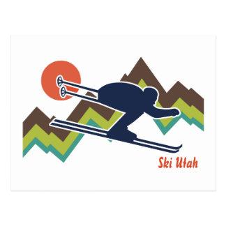Esquí Utah Tarjeta Postal