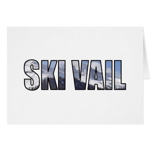 Esquí Vail, Colorado Tarjeta De Felicitación