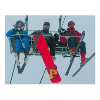 Esquí y snowboard postales