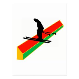 Esquí Ya lunes Tarjeta Postal