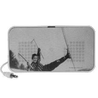Esquiador 2 de la mujer iPod altavoz
