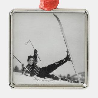 Esquiador 2 de la mujer adorno para reyes
