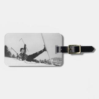 Esquiador 2 de la mujer etiquetas para equipaje