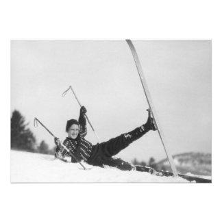 Esquiador 2 de la mujer invitación