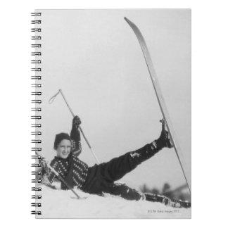 Esquiador 2 de la mujer libro de apuntes