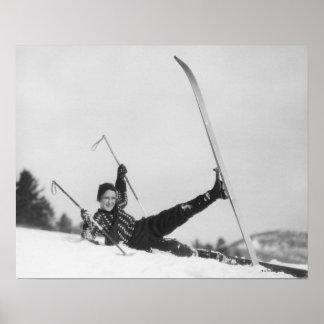 Esquiador 2 de la mujer poster