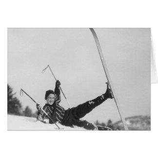 Esquiador 2 de la mujer tarjetas
