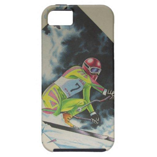 Esquiador alpino iPhone 5 Case-Mate funda