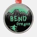 Esquiador artístico de Oregon de la curva Adorno De Reyes