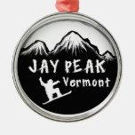 Esquiador artístico máximo de Jay Vermont Adorno Navideño Redondo De Metal