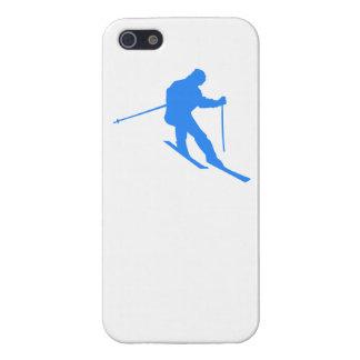 Esquiador azul iPhone 5 carcasas