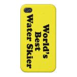 Esquiador de la mejor agua del mundo iPhone 4/4S carcasa