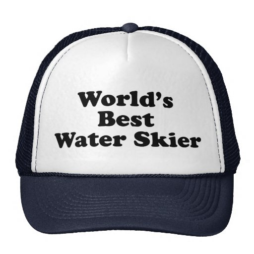Esquiador de la mejor agua del mundo gorra
