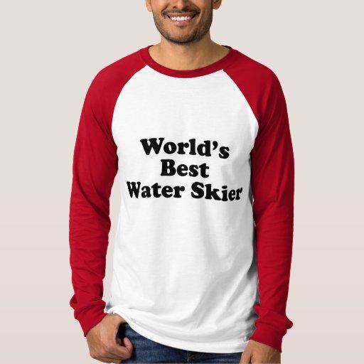 Esquiador de la mejor agua del mundo remeras