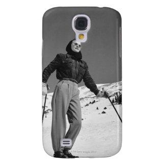 Esquiador de la mujer funda para galaxy s4