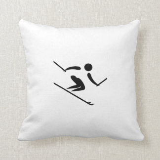 Esquiador de la nieve almohada