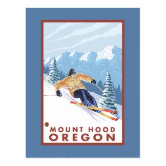 Esquiador de la nieve de Downhhill - capilla del Tarjetas Postales