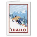 Esquiador de la nieve de Downhhill - Idaho Tarjeta De Felicitación