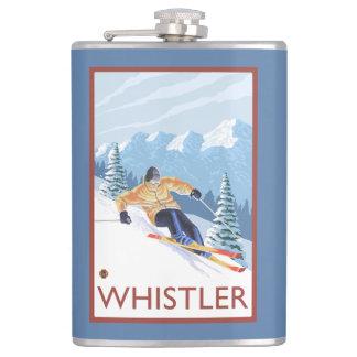 Esquiador de la nieve de Downhhill - marmota, A.C.
