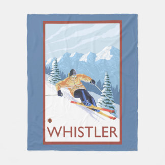 Esquiador de la nieve de Downhhill - marmota, A.C. Manta De Forro Polar