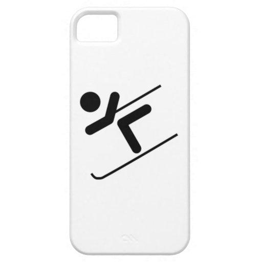 Esquiador de la nieve iPhone 5 Case-Mate protector