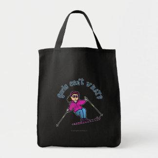 Esquiador de la nieve ligera bolsas de mano