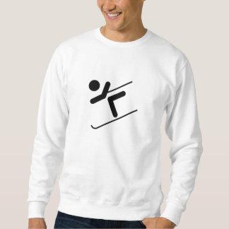 Esquiador de la nieve sudadera