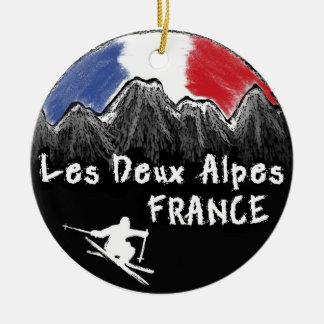 Esquiador de Les Deux Alpes Francia Ornamento Para Reyes Magos