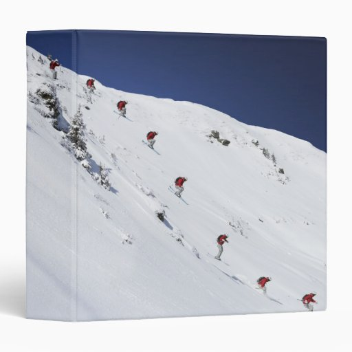 "Esquiador de sexo masculino carpeta 1 1/2"""