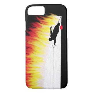 Esquiador del agua del eslalom con las llamas funda iPhone 7