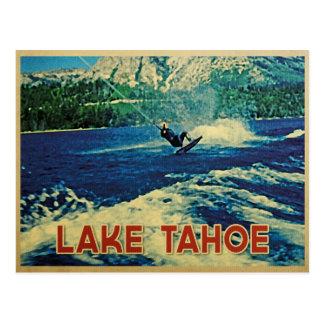 Esquiador del agua del lago Tahoe Postales