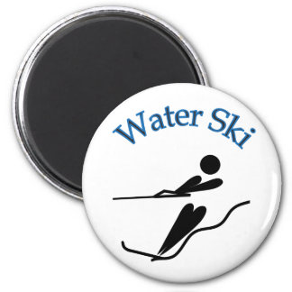 Esquiador del agua - esquí acuático imán redondo 5 cm