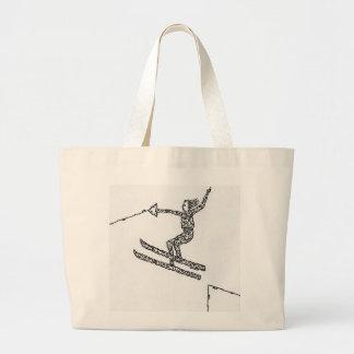 Esquiador del agua, hecho de caras bolsa