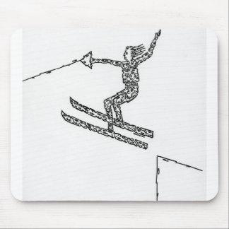 Esquiador del agua, hecho de caras tapete de ratones