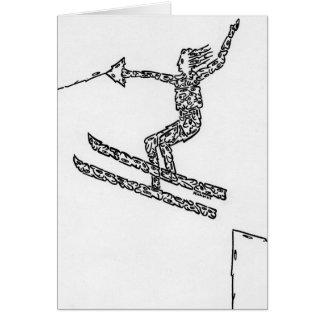 Esquiador del agua, hecho de caras tarjetón
