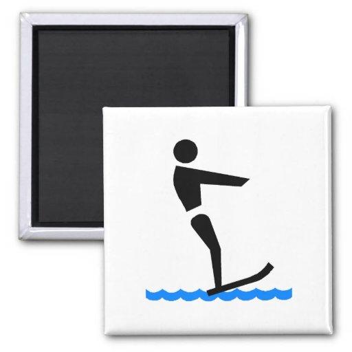 Esquiador del agua imán para frigorifico