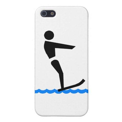 Esquiador del agua iPhone 5 cárcasa