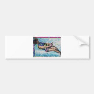 Esquiador del agua pegatina para auto